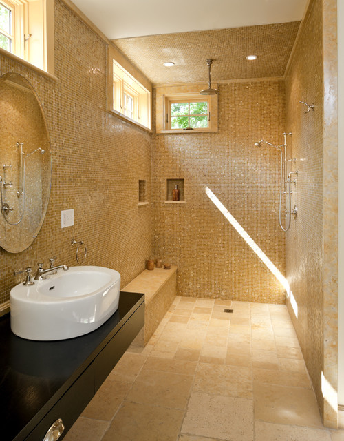Carpenter Gothic Shower modern bathroom