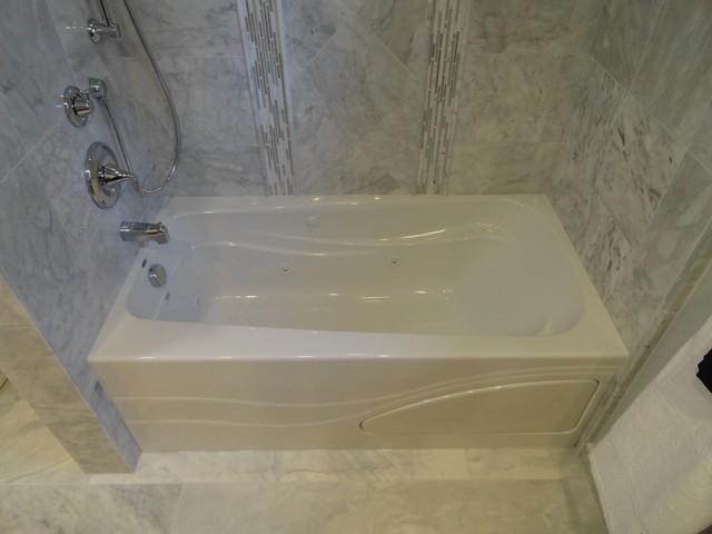 Carrara Marble Bath contemporary-bathroom