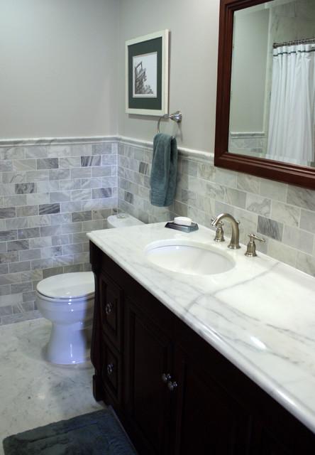 Carrara Marble Bathroom Traditional Bathroom
