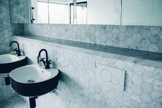 Carrara Marble Cremorne Home contemporary-bathroom