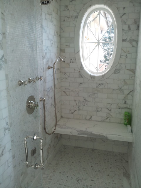 Carrara Marble Traditional Bathroom New York By La Pietra Tile Amp Stone