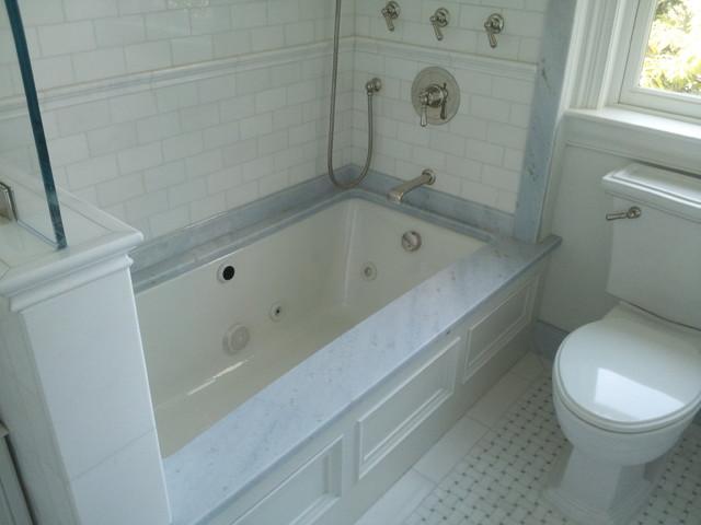 Carrara Marble Traditional Bathroom New York By La