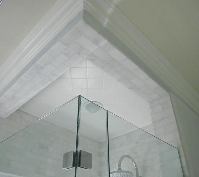 Awesome Carrara Marble Tile Shower Contemporary Bathroom
