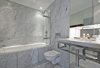 Carrara Marble Tile White Bathroom Contemporary