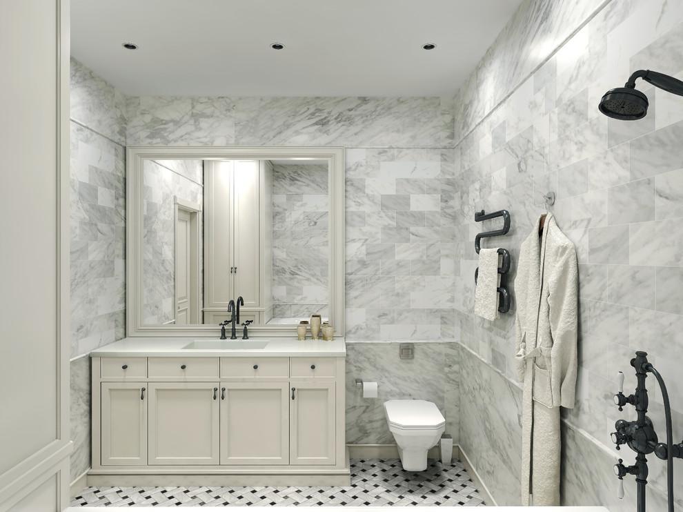 Carrara Marble Tile White Bathroom Design Ideas Modern Bathroom New York By All Marble Tiles Houzz