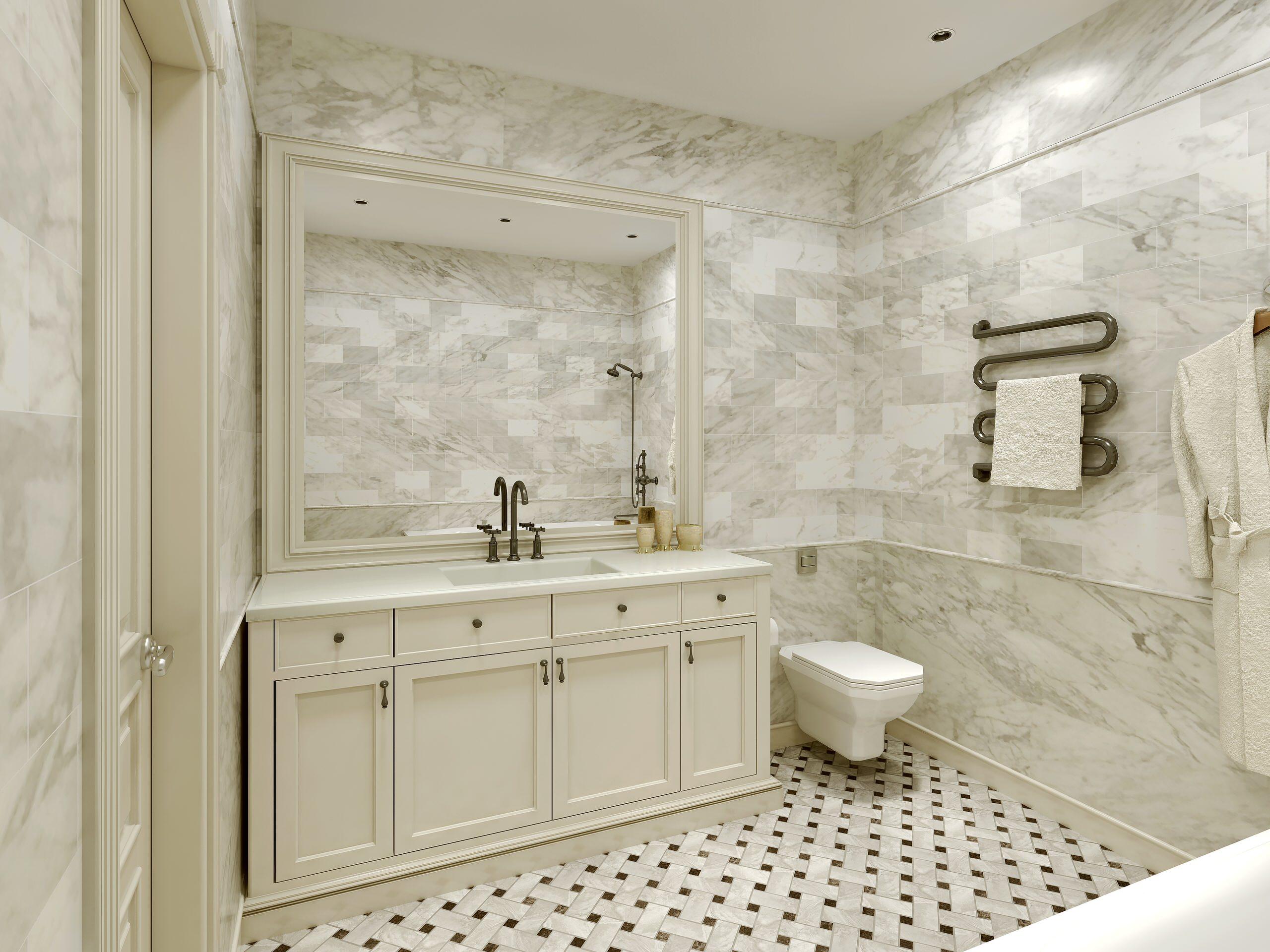 Carrara Marble Bathroom Houzz