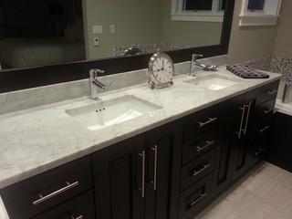 Carrara White Kitchen Master Bath Contemporary Bathroom Grand Rapids By Stoneway