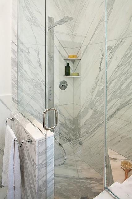 Carrera Marble Bathroom contemporary-bathroom