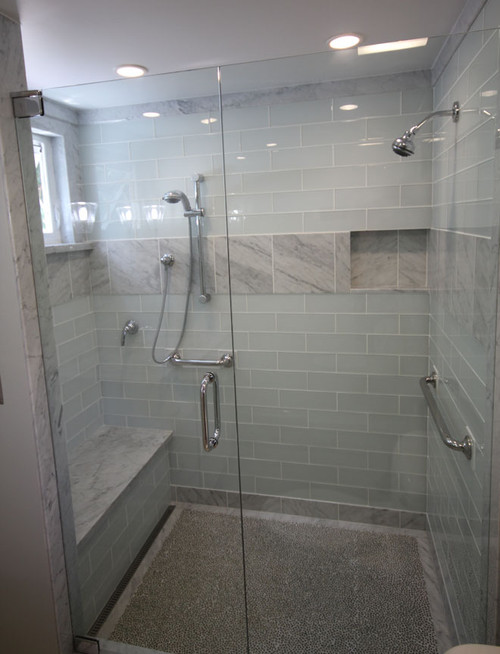 white glass tile bathroom are these glass tiles a white 21536