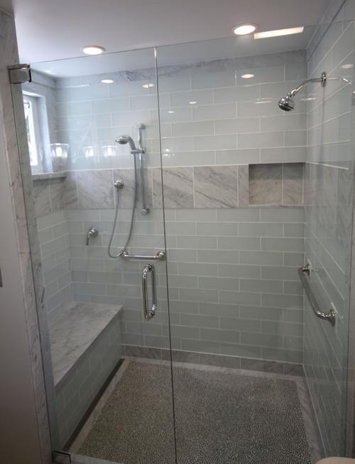 Regarding the white glass wall tiles