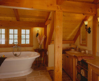 Carriage House Great Room Traditional Bathroom Boston By Timberpeg
