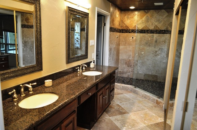 Carrollton Tx Walk In Shower Traditional Bathroom Dallas By Millwood Remodeling And