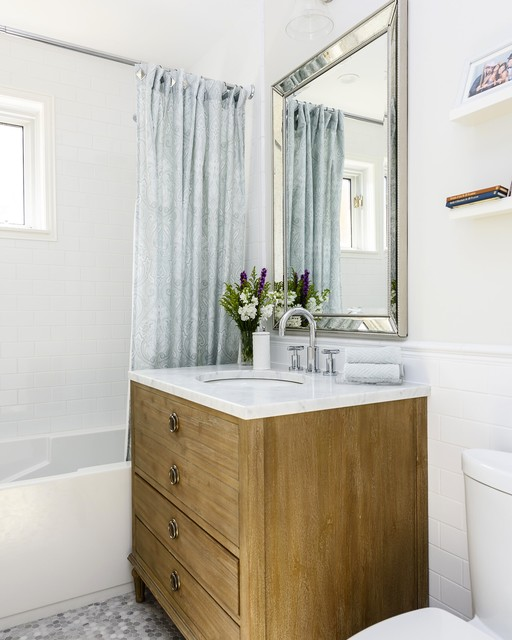 Cartierville home renovation transitional bathroom for Home renovation montreal