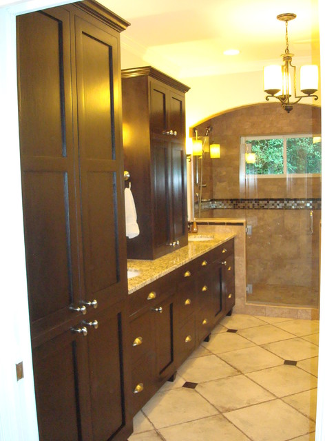 cary bath remodel - oversized shower traditional-bathroom