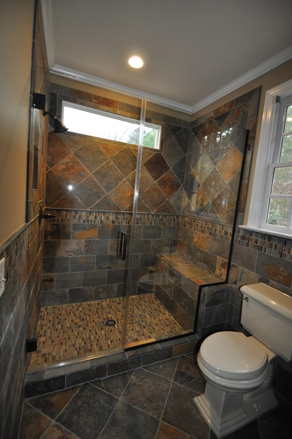 slate tiles bathroom cary guest bath remodel slate traditional bathroom 14469