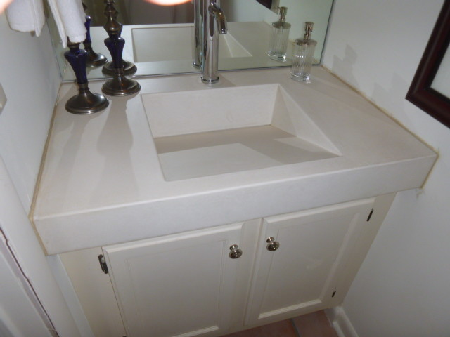 ramp sinks for bathrooms cast in place concrete counters amp ramp sink slot drain 20083