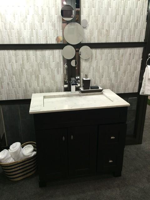 Castlestone porcelain tile contemporary bathroom los for Bathroom design 7x12