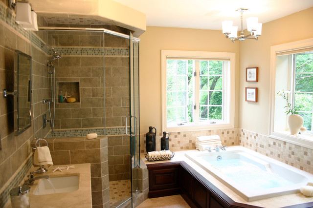 Casual elegance in the suburbs for Casual bathroom ideas