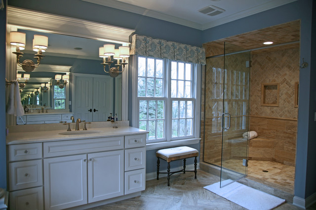 Casual lake retreat traditional bathroom other metro for Angela bonfante kitchen designs