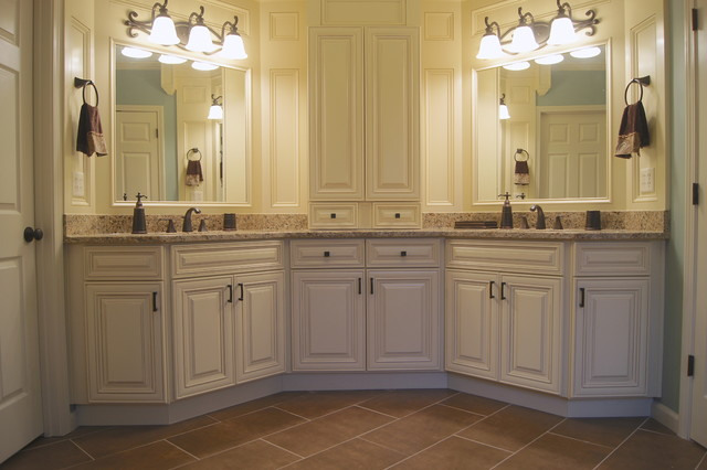 Ccff bathroom refinishes traditional bathroom atlanta by creative cabinets and faux for Best finish for bathroom cabinets
