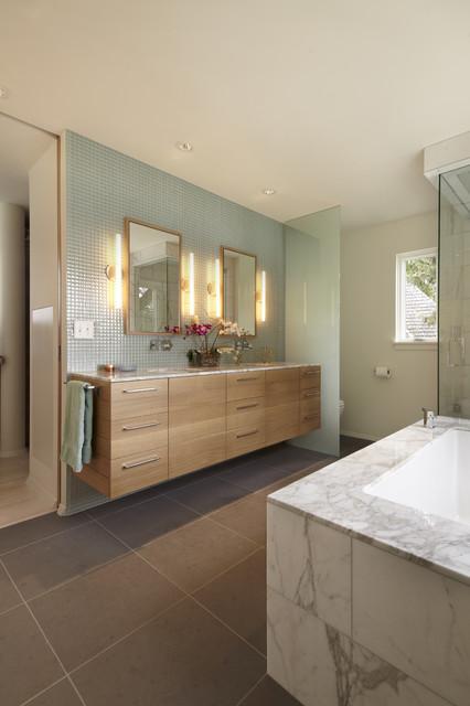 Cedar Lake International Style Contemporary Bathroom