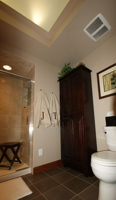 Ceiling Lights Up Transitional Bathroom Minneapolis