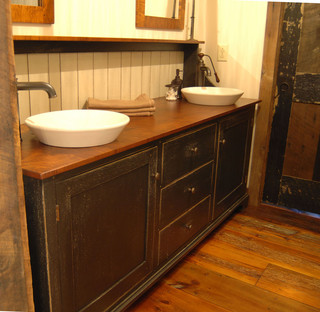 Central Kentucky Log Cabin Primitive Kitchen - Contemporary - Bathroom - louisville - by The ...