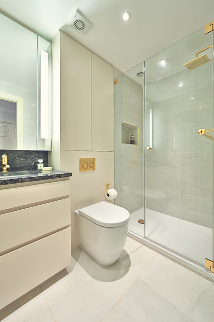 Central london apartment contemporary bathroom Bathroom design company london