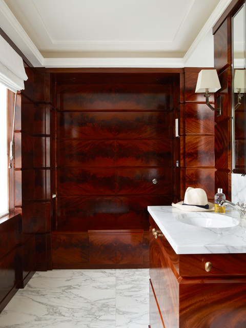 Central london town house traditional bathroom for Interior designers central london
