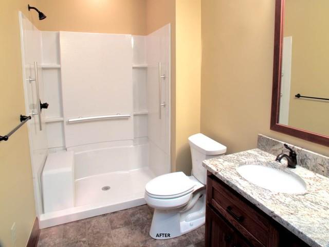 Central Ohio Hunting Lodge Addition traditional-bathroom