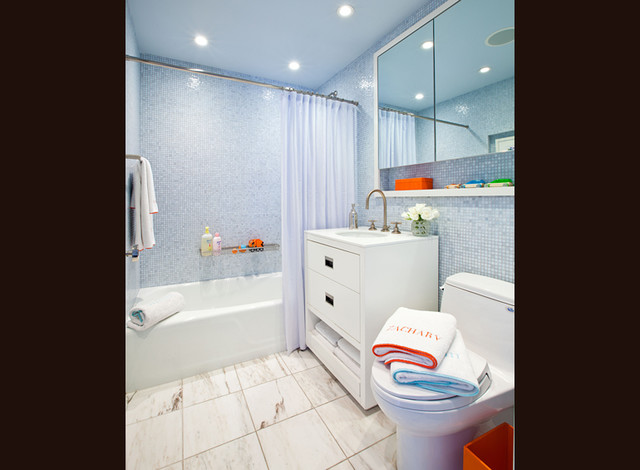 Central Park Views contemporary-bathroom