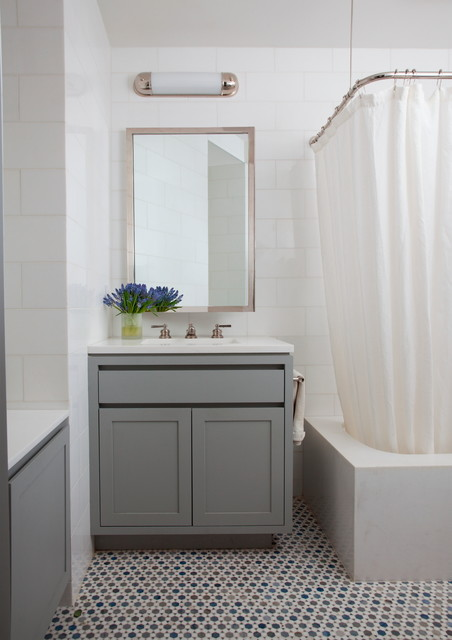 Central park west transitional bathroom new york for Bathroom interior design services