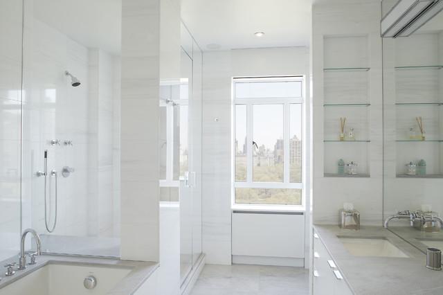 Central Park West  Apartment contemporary-bathroom