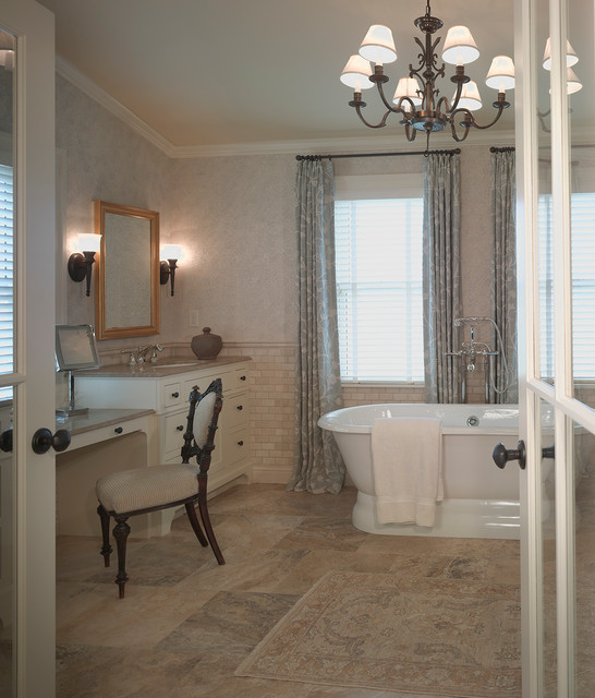 Century old farmhouse traditional bathroom for Historic bathroom remodel