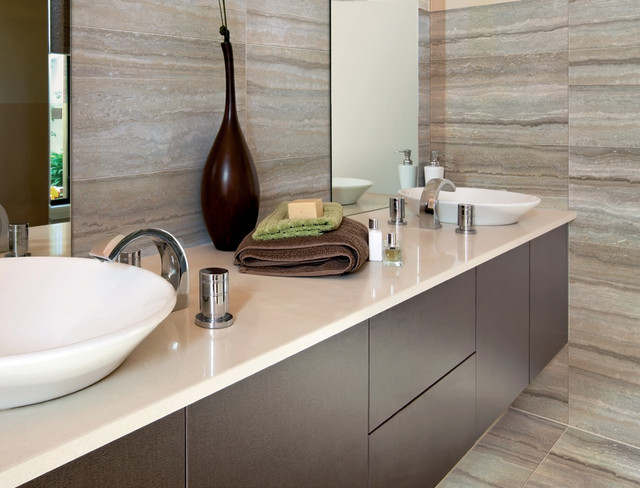 Contemporary Bathroom Countertops ceramic & porcelain tile ideas - contemporary - bathroom