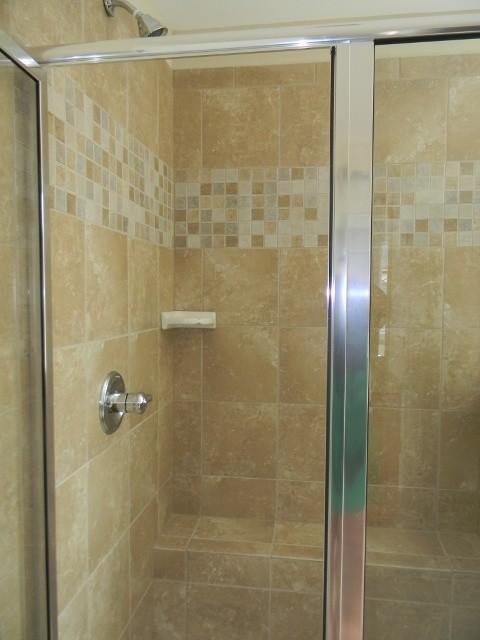 Ceramic Tile Shower Designs Traditional Bathroom
