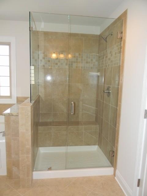 Ceramic Tile Shower Designs American Traditional Bathroom