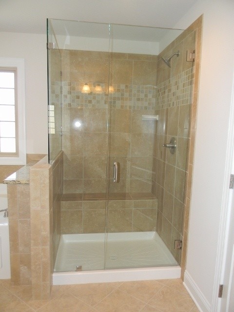 Ceramic Tile Shower Designs Traditional Bathroom Charlotte By Essex H