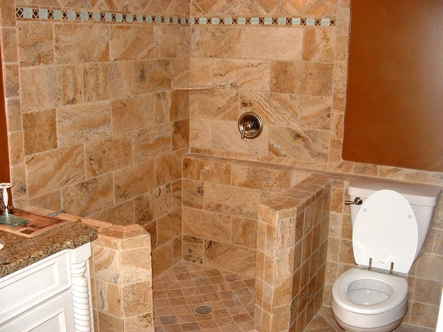 Ceramic Tile With Open Shower
