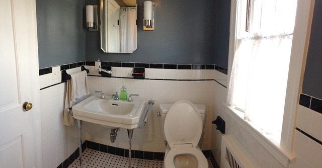 Ceramic White 4x4 with Black Cove Base Tile, Listello and ...