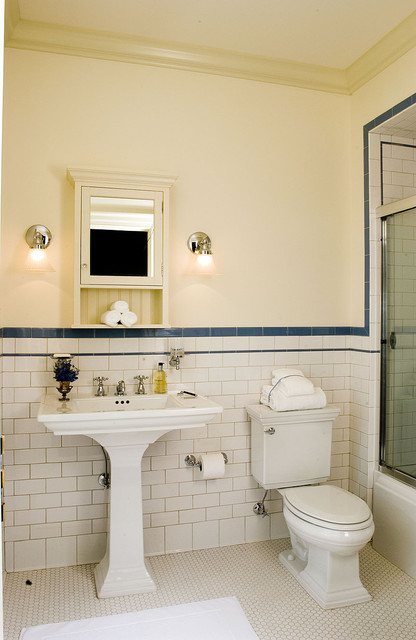 Chadsworth Cottage - Traditional - Bathroom - other metro - by Christine G. H. Franck, Inc.
