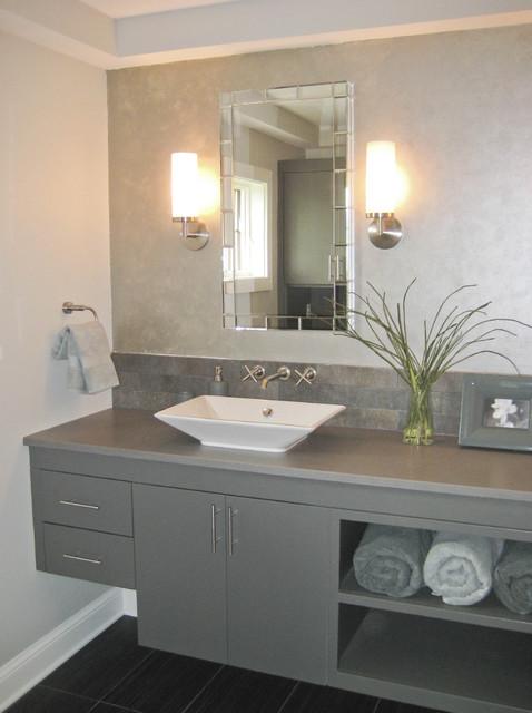 Chanhassen New Home contemporary-bathroom