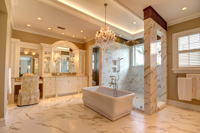 Charleston style on the water traditional bathroom for Bathroom remodeling charleston sc