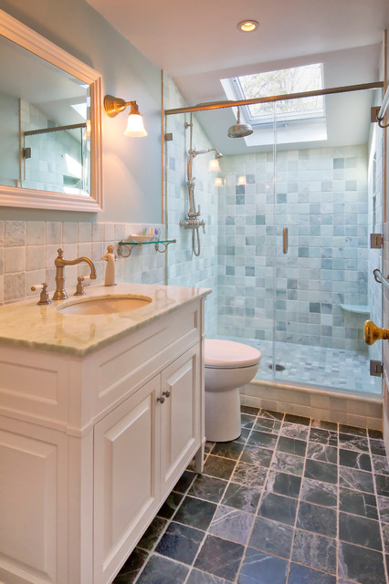 Inspiration For A Timeless Bathroom Remodel In New York With Raised Panel  Cabinets