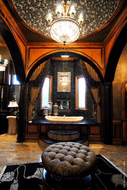Chateau D'Usse (by: Hillcrest Homes) mediterranean-bathroom