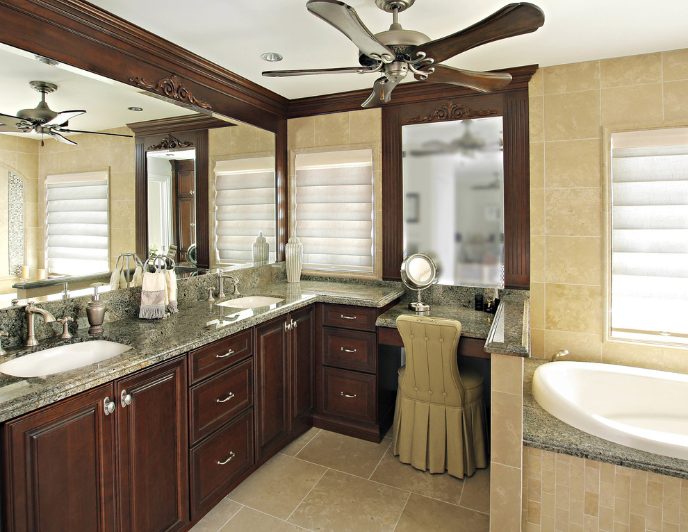 Cherry bathroom cabinets in Lake Forest, Ca - Contemporary ...