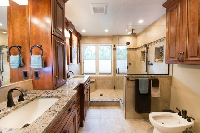 Elegant bathroom remodel transitional bathroom other for Bathroom remodel utah