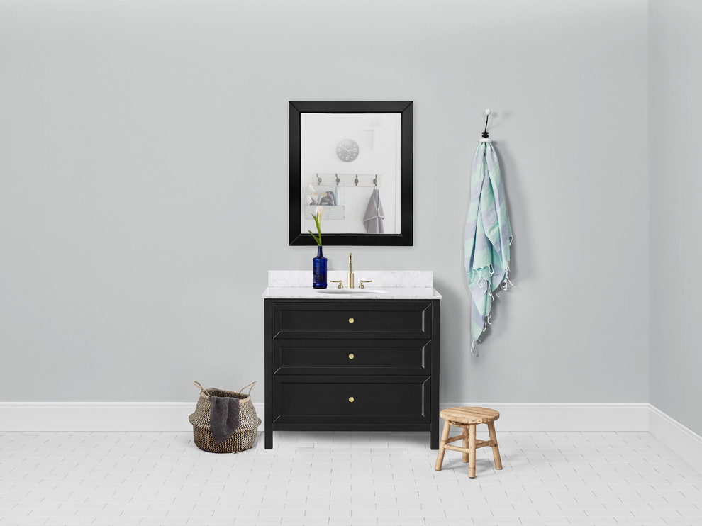 Chester 36-inch Vanity in Black - Traditional - Bathroom ...