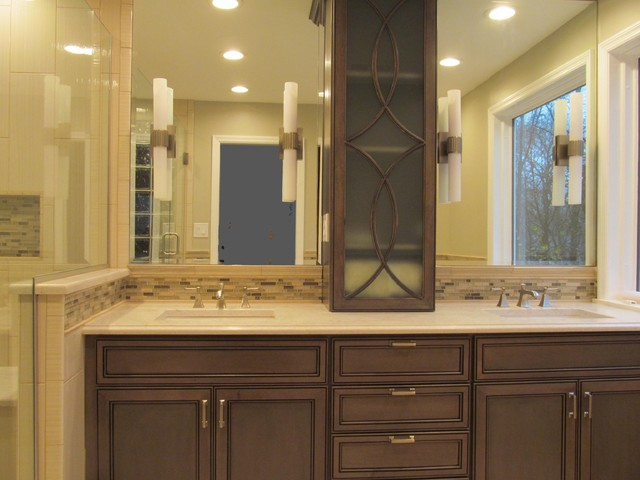 Chesterfield Master Bath & Powder Room - Contemporary - Bathroom - st louis - by Kitchen Tune-Up ...