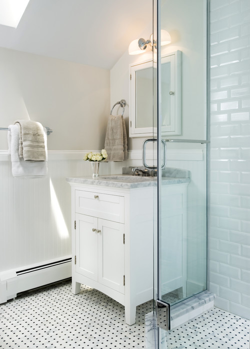 beveled subway tile design | Are these 2x4 beveled edge subway tiles, maybe by Ann ...